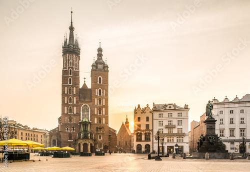Zdjęcia na płótnie, fototapety na wymiar, obrazy na ścianę : Old city center of Krakow, Poland