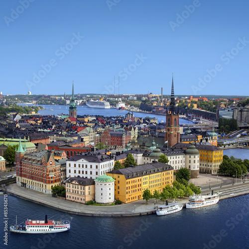 Aluminium Stockholm Panorama of Stockholm, Sweden