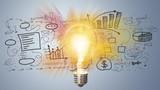Marketing-Licht des Erfolgs