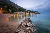 Beautiful Adriatic Beach and Mimice Village on Omis Riviera in t poster