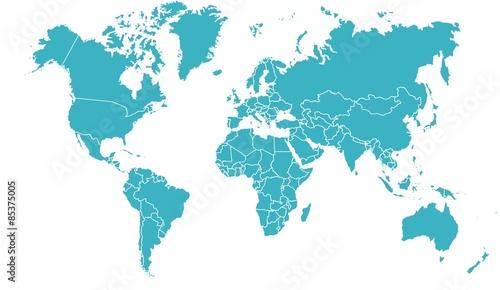 Fototapeta carte du monde 19062015