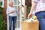 Person Doing Shopping For Elderly Neighbour - 85375252