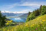 Fototapety View over Zell am See, Austria