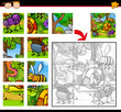 cartoon insects jigsaw puzzle game