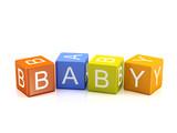 Baby  - Alphabet blocks isolated