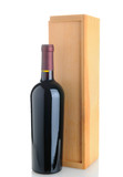 Cabernet Bottle with Wood Box
