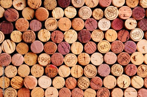 Fototapeta Wall of Wine Corks