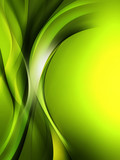 Beautiful Modern Green Wave Abstract Backgrund