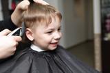 Fototapety kid at the barbershop