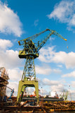 Port crane at Gdansk Shipyard.