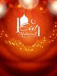 Fototapeta - Shiny glittering religious Eid Mubarak background design.