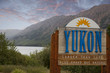 yukon welcome sign