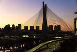 Sunset in Estaiada bridge Sao Paulo, Brazil - Fine Art prints