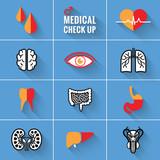 Medical Check Up Icons Man