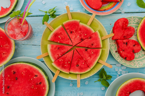 Poszter Watermelon - the delights of watermelon