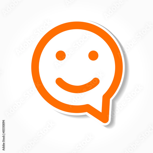 happy smile speech bubble