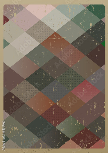Abstract retro geometric background. Vector Illustration © victoria_novak