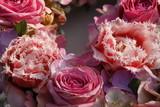 Fototapeta Rosen und Tulpen