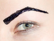 Постер, плакат: painted black eyebrows