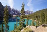 Fototapeta moraine lake and valley of ten peaks
