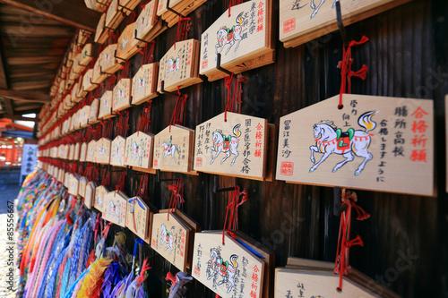 Foto op Plexiglas Japan Origami cranes and prayer tablets at Fushimi