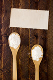 Spoon with flour and starch poster