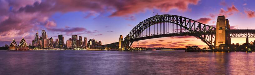 Fototapeta panorama na Sydney wieczorem
