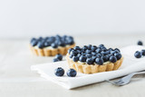 Blueberry tart on the table