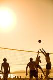 Fototapeta volleyball on beach