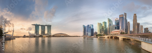Foto op Aluminium Toronto Singapore Skyline and view of Marina Bay