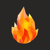 Fototapety polygon fire flame flames natural and abstract