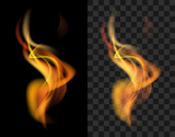 Fototapety fire transparent translucent flame torch
