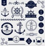 Fototapety Sea and nautical design elements. Vector set.