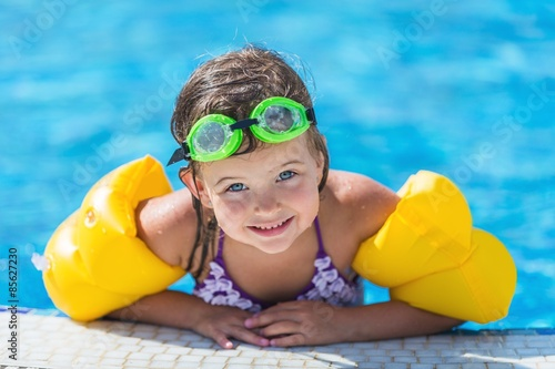 Poster, Tablou Child, Swimming, Swimming Pool.