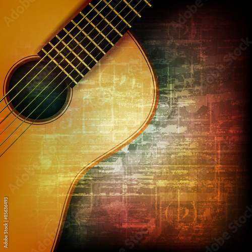 abstract grunge background with acoustic guitar | Buy ...