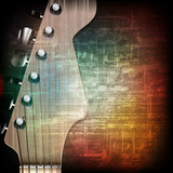 Fototapety abstract grunge background with electric guitar