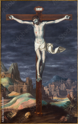 Plakat Granada - crucifixion paint from in Monasterio de la Cartuja