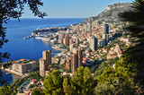 View of the city of Monaco. French Riviera