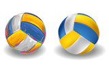 Volleyball Isolated on white Background. All elements are in separate layers and grouped.
