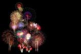 Fototapety Fireworks Celebration at night on black Background