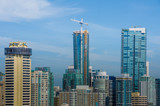 The skyline of Vancouver features luxury condominiums as well as office buildings and international hotels including construction on the new Trump Tower. - 85681047