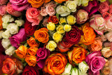 Fototapety beautiful bouquet of multicolored roses