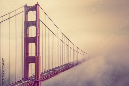 Golden Gate Into the Fog