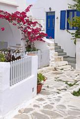 Fototapeta biała uliczka Grecja