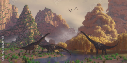 Plagát, Obraz Sauroposeidon Dinosaurs