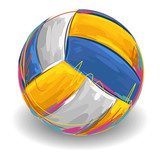 Fototapeta Volleyball. All elements are in separate layers and grouped.