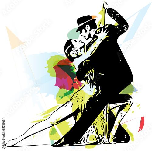 Fototapeta Latino Dancing couple
