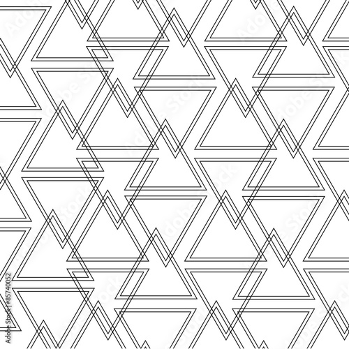 triangle outline pattern - 85740052