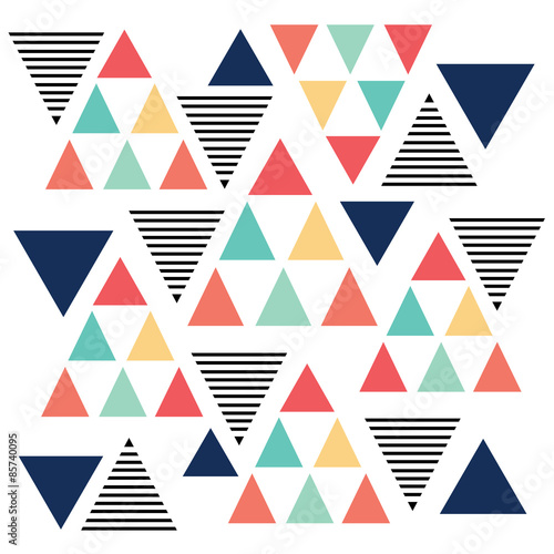 Triangle pattern color variation