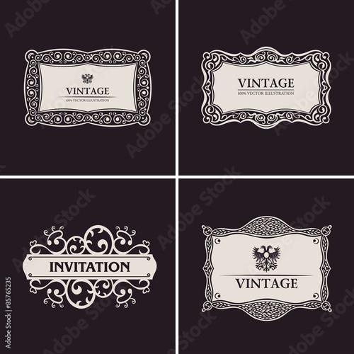 Label vector frames elegant border set vintage banner design buy label vector frames elegant border set vintage banner design stopboris Choice Image